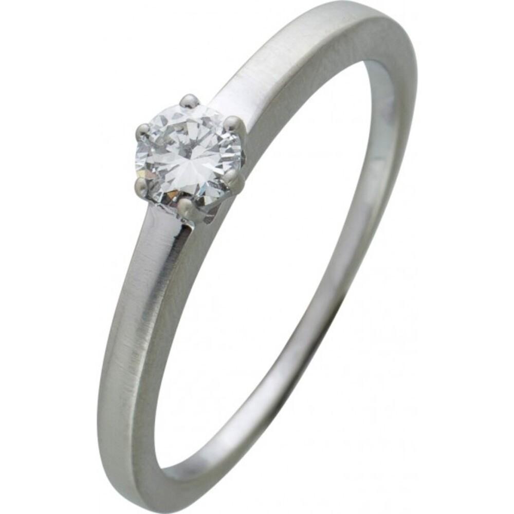 Brillantring Diamantring Solitaer Platin 950 Diamant Brillant 0,22 Carat TW / Lupenrein