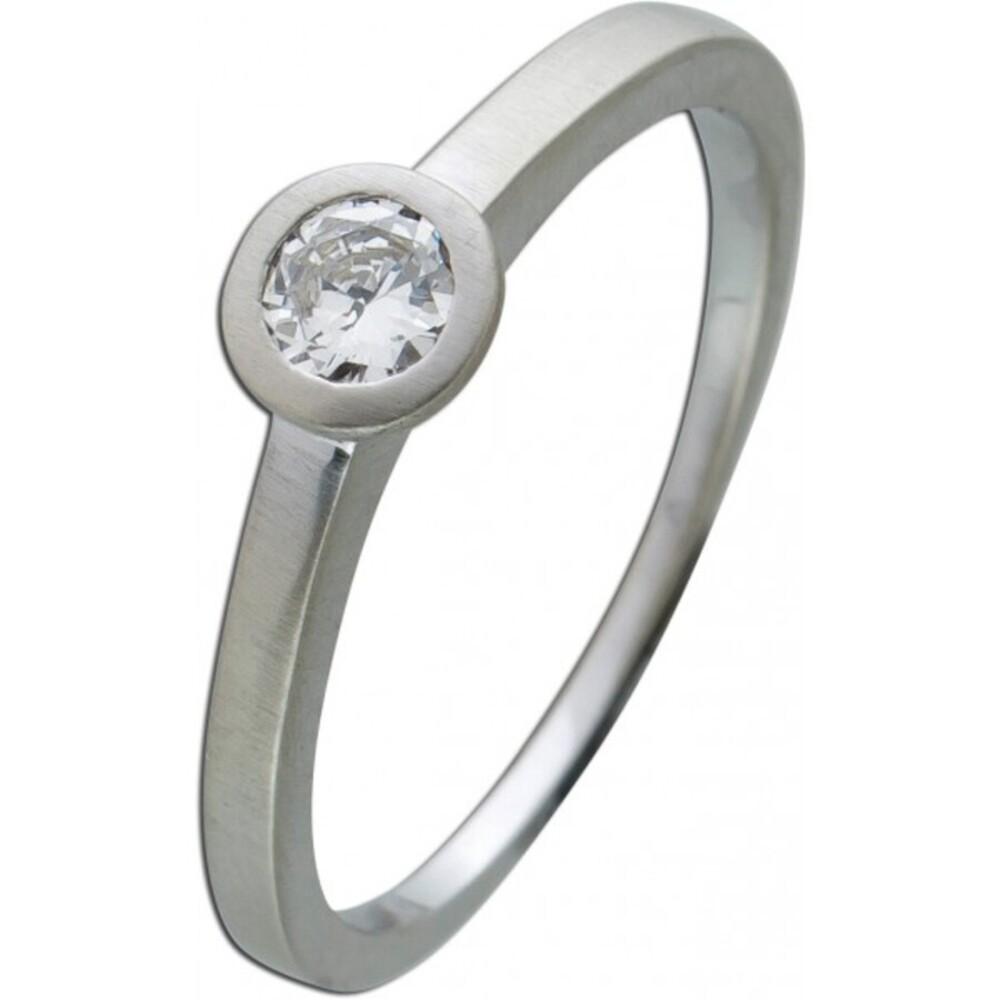 Brillantring Diamantring Solitaer Platin 950 Diamant Brillant 0,22 Carat TW / Lupenrein Zargengefasst
