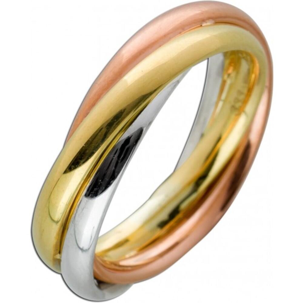 Tricolor Ring Gelbgold Rosegold Weissgold 333 5,2mm Breite Damenschmuck
