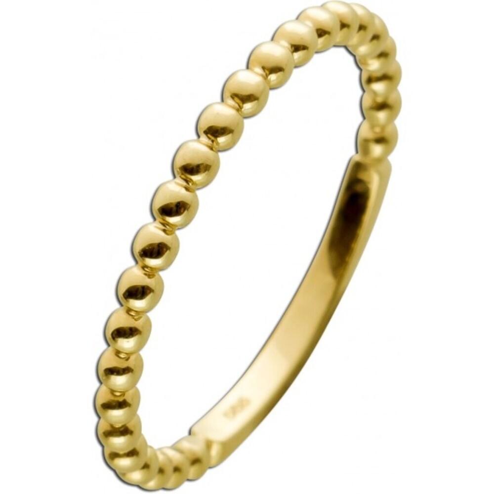 Kugel Ring Gelbgold 333 8 Karat Kugel Motive In den Größen 16-20mm erhältlich