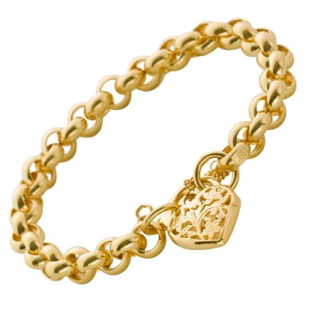 UNO A ERRE Armband Erbskette Gold 375 Herzverschluss_01