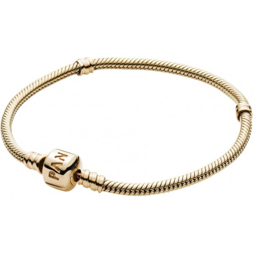 Pandora 550702 Pandora Moments Gold Clasp Bracelet 14K Gold Armband 18 19 20 21cm