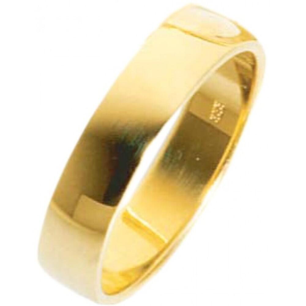 Ehe/trauring Stuttgart in GelbgoldI, hochglanzpoliert 333/  8 karat Breite 5 mm, Stärke 1,3mm  Die Gravur der Trauringe sowie das Etui erhalten Sie kostenlos und bei diesen einfarbigen Trauringen - Eheringen ist auch der kostenlose jährliche Auffrischungs