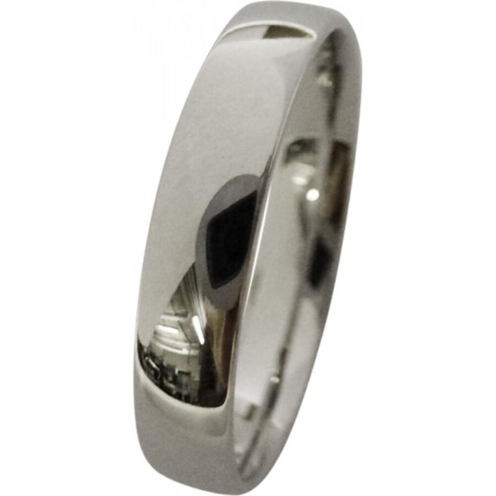 feiner Trauring in Weissgold 333/- hochglanzpoliert4x1,3mm, leicht bombiert für angenehmes Tragen (Default)