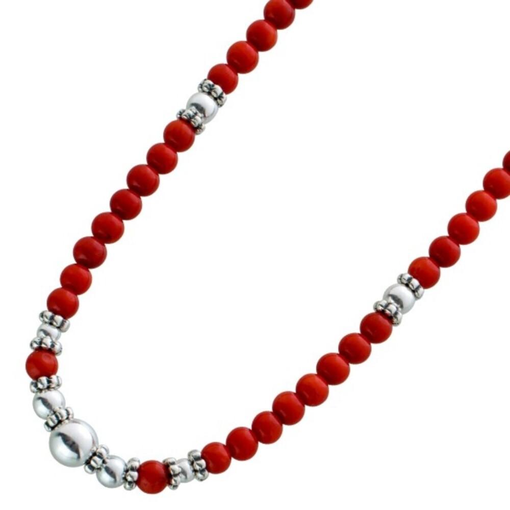 Korallenkette rot Sterling Silber 925_01