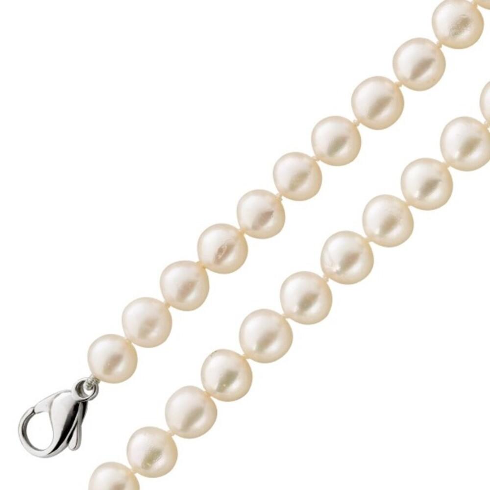 Perlenkette Weißgold 585 Kette Perlen weiß Akoyazuchtperlen 1