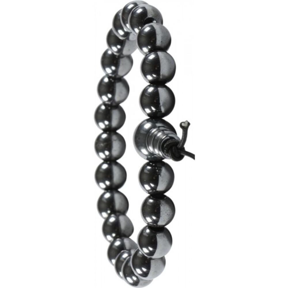 Armband Edelstein Power Buddha Armband silber schwarzer Hämatit Esoterik Shamballa-3