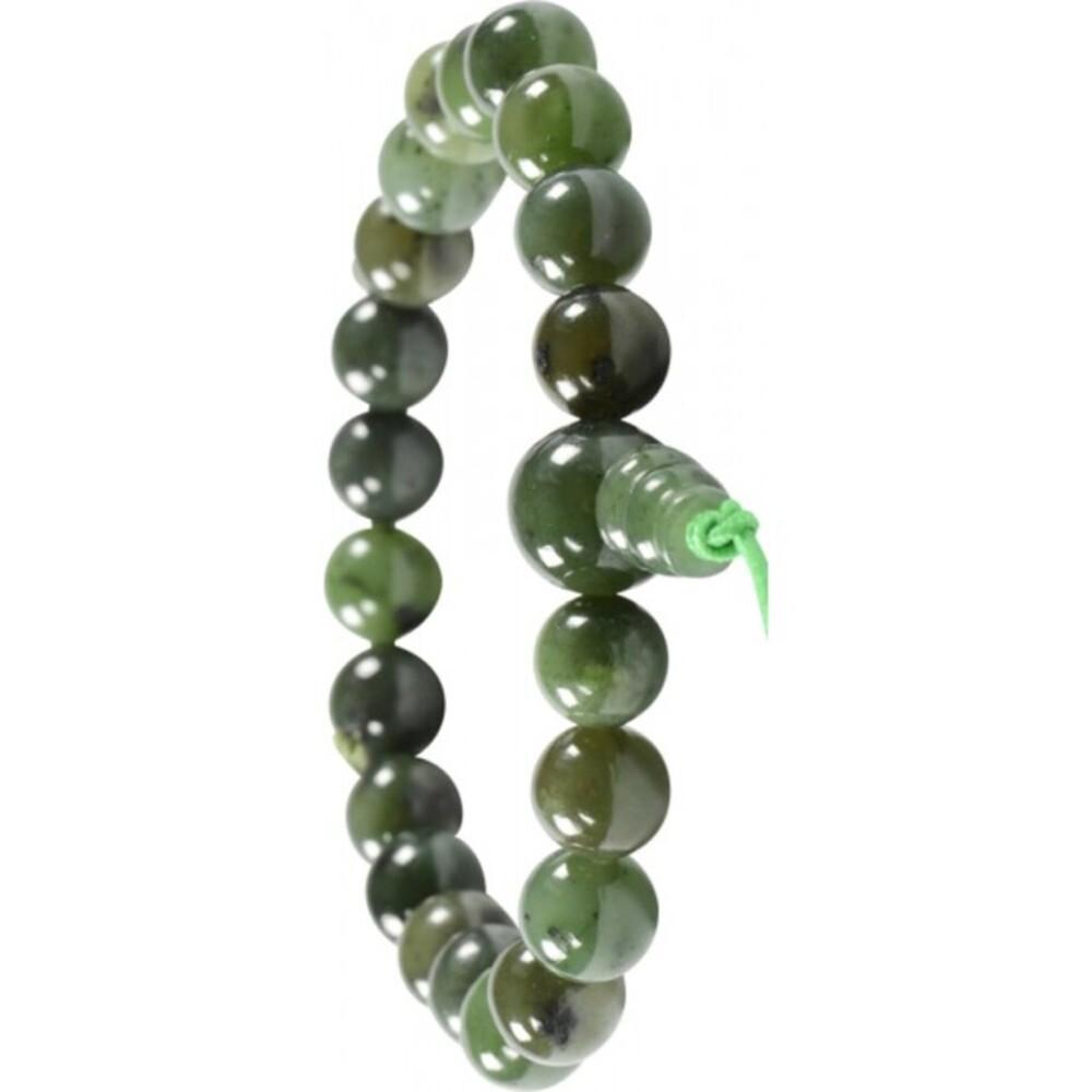 Armband Edelstein Power Buddha Armband grüne Jade Nephrit Esoterik Shamballa-2