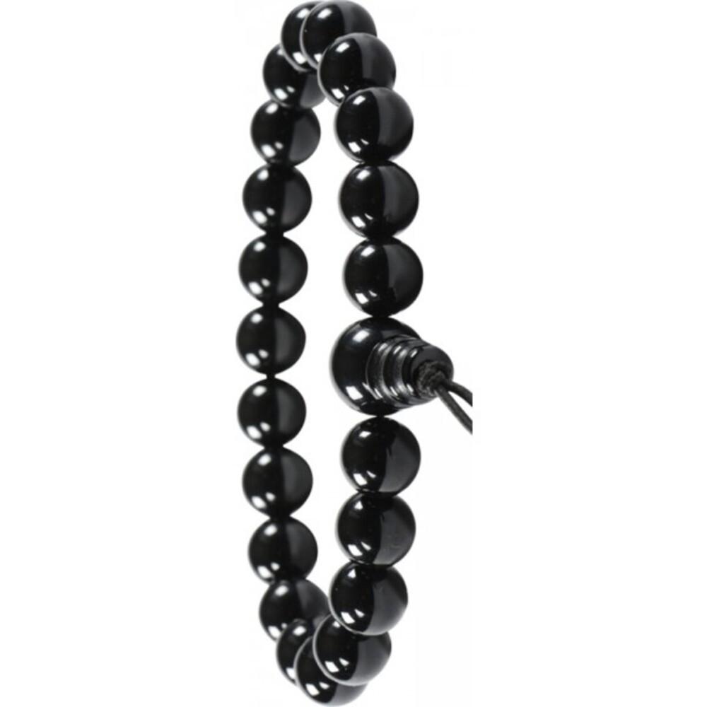 Edelstein Armband schwarzer Onyx Power Buddha Armband Esoterik Shamballa-3