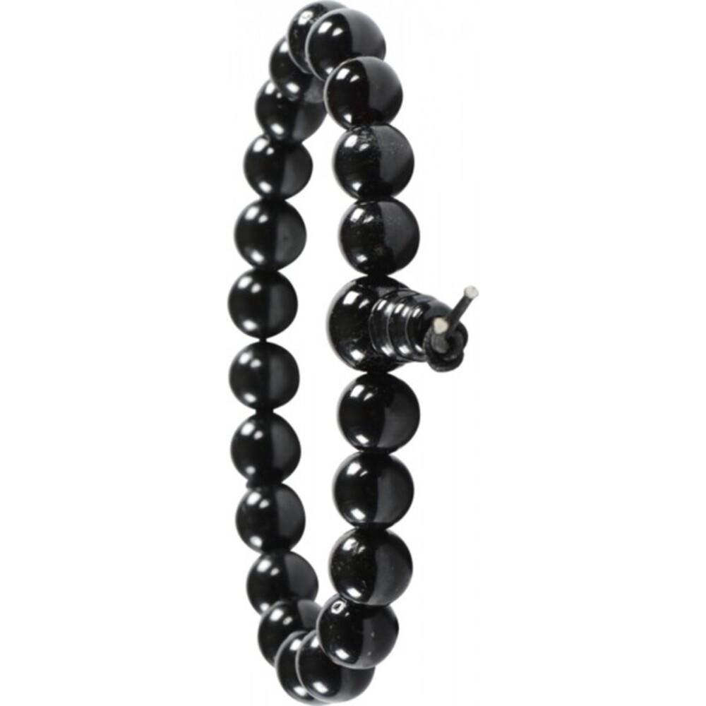Armband Edelstein Power Buddha Armband schwarzer Schörl Turmalin Esoterik Shamballa-3