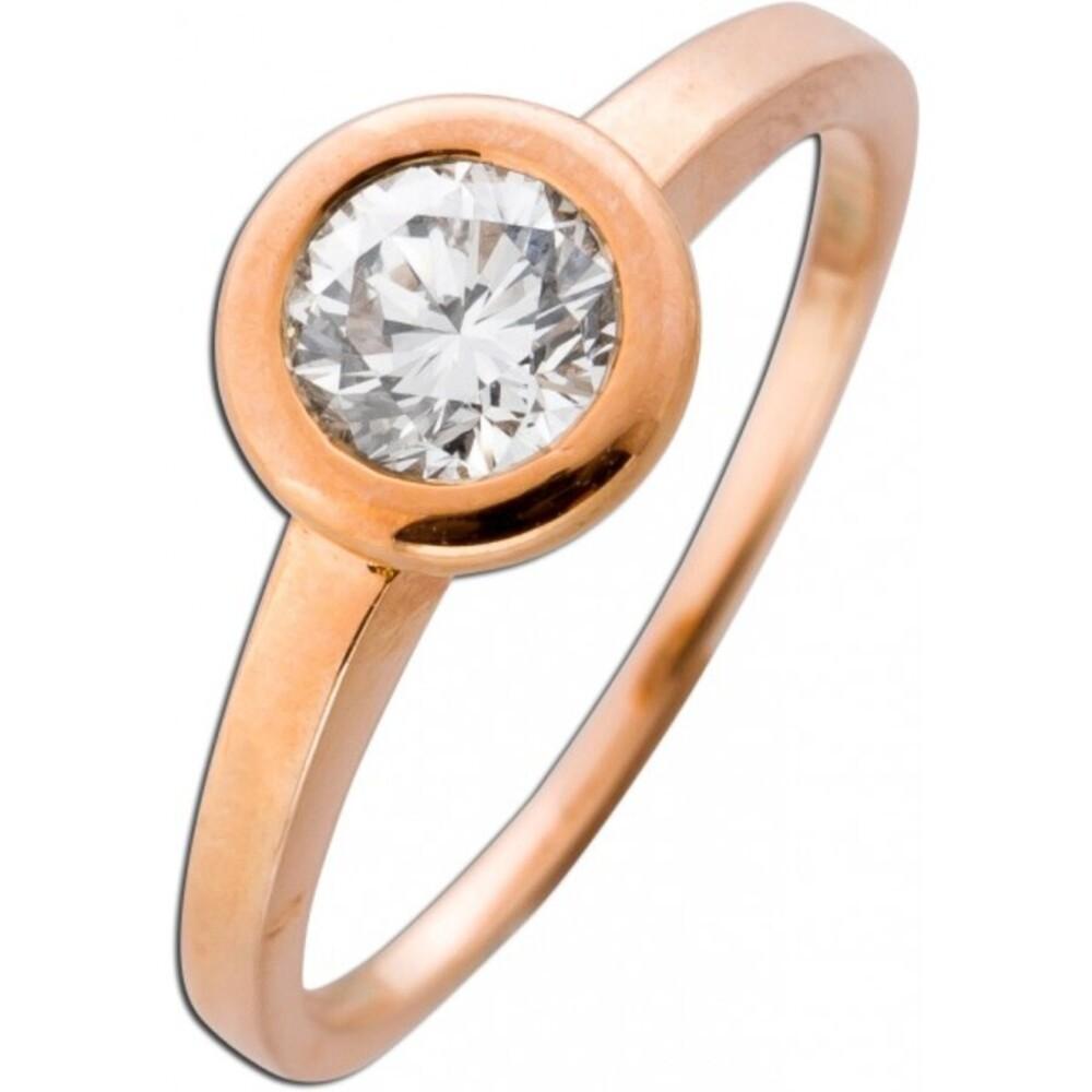 Vorsteckring Brillant Diamant Solitär Ring Roségold 585 14 Karat 0,66 Carat TW / VSI Top Wesselton_01