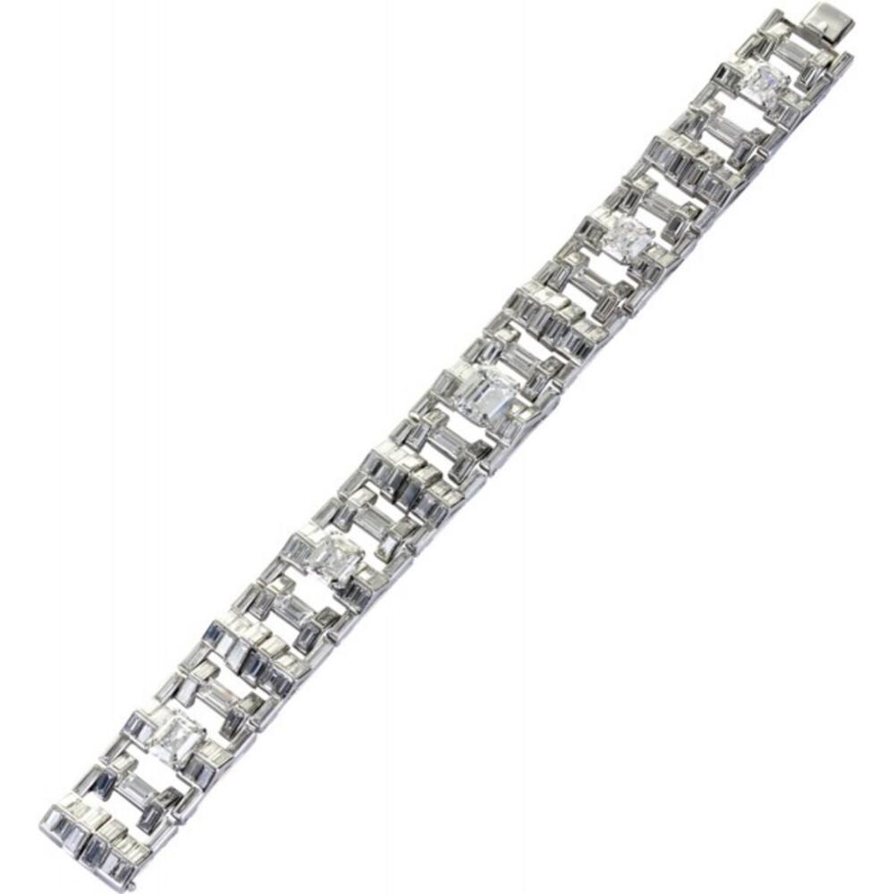 Diamantarmband Weißgold 750 mit ca. 29 Carat Diamanten UNIKAT feiner Juwelier Paris