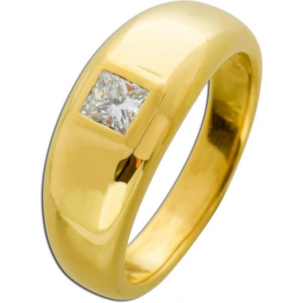Antiker Diamant Ring Princess Schliff 0,39ct TW/VSI 60-er Jahre