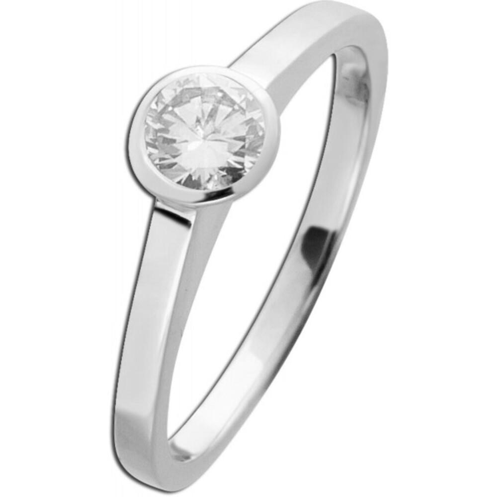 Diamant Brillant Ring Weissgold 750 Solitär 0,50ct TW/VVSI Vorsteckring (Standardartikel)
