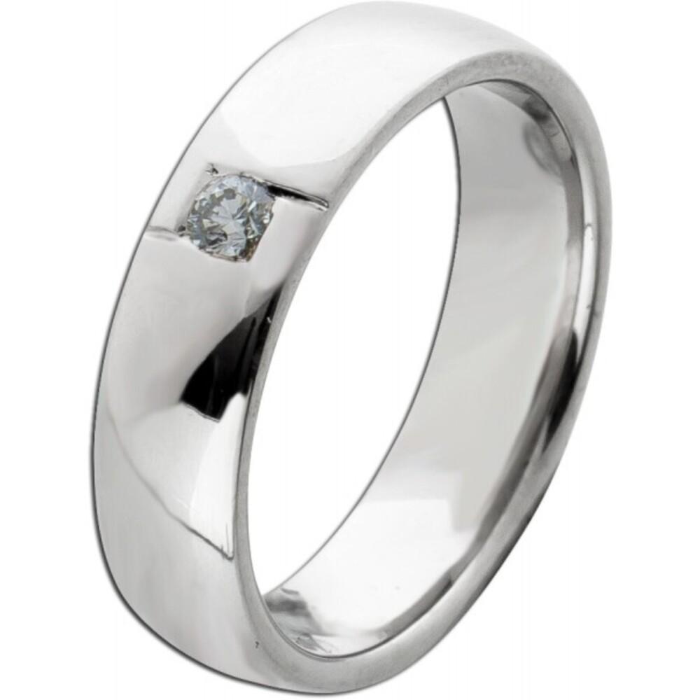 Solitärring Gelbgold 750 Diamant Brillant 0,06ct TW/SI  Gr. 16,2mm Verlobungsring  Vorsteckring