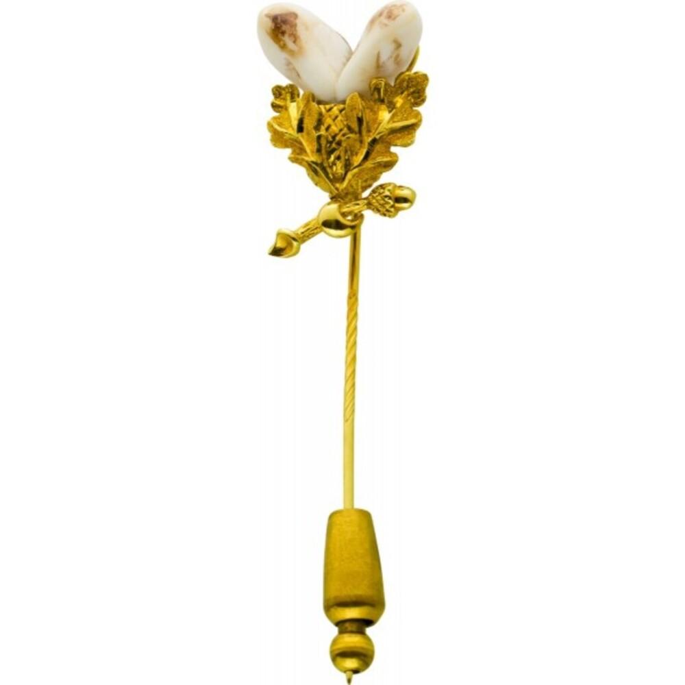 Antike Grandel Anstecknadel Gelbgold 585 Einzelanfertigung Um 1930 Sehr Guter Zustand