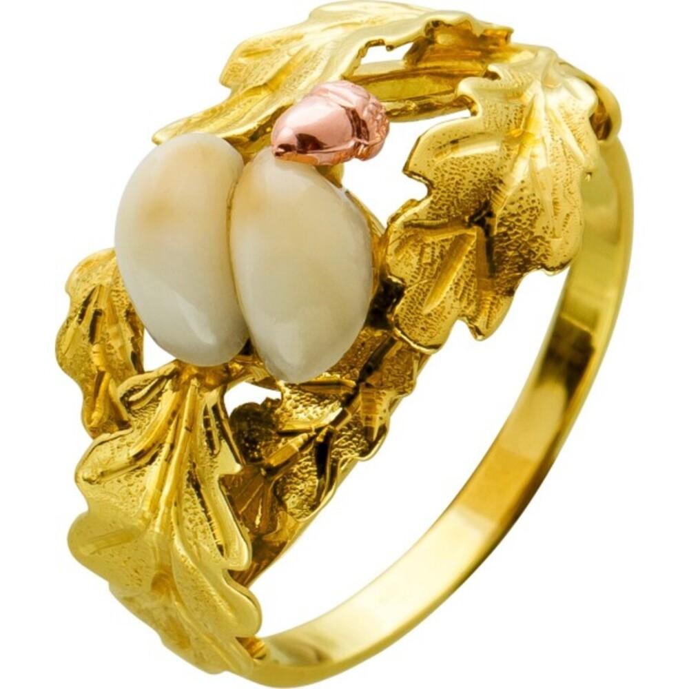 Antiker Grandel Ring Gelbgold 585 Einzelstück Um 1930 TOP Zustand