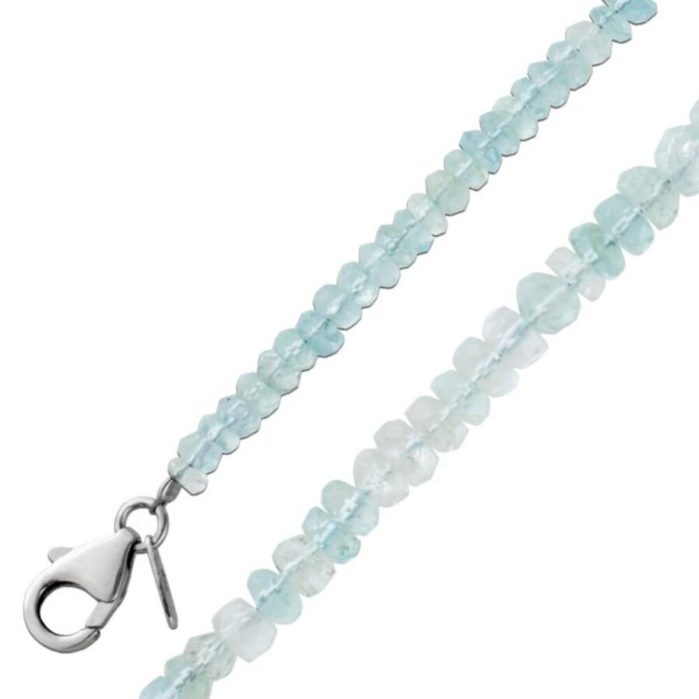 Antikes Blautopas Collier Silber 925 Edelsteine Facettiert 45cm Um 1980 TOP Zustand