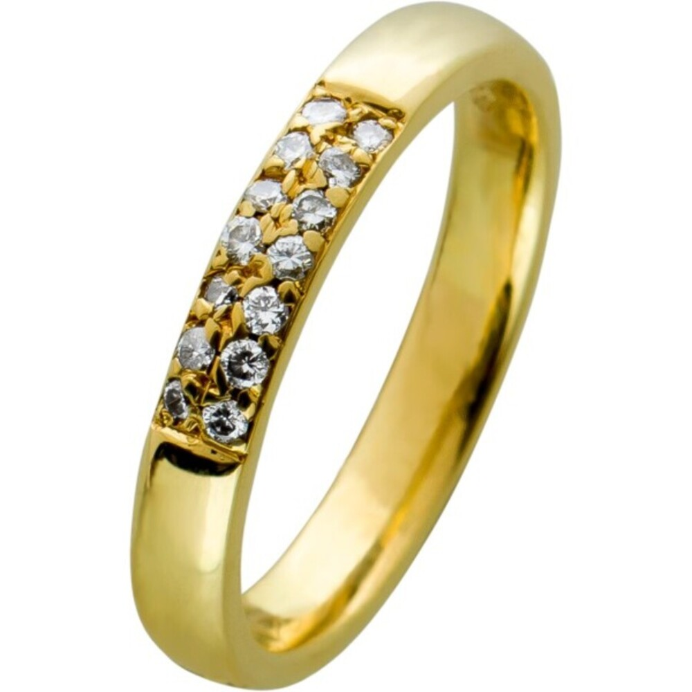 Brillant Memoire Ring Gelbgold 585 mit  Brillanten 14kt