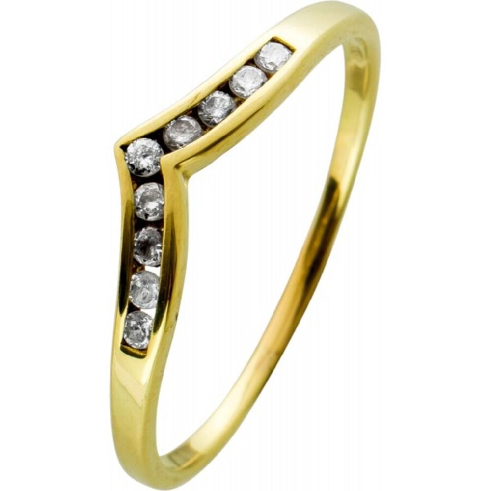 Zirkonia Ring Gelbgold 333 mit Zirkonia