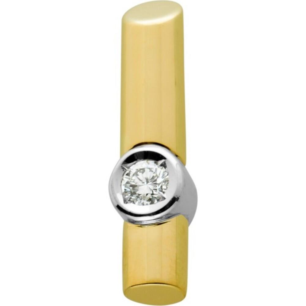 Brillant Anhänger Gelbgold,Weissgold 585, Brillant 0,35ct TW/VVSI