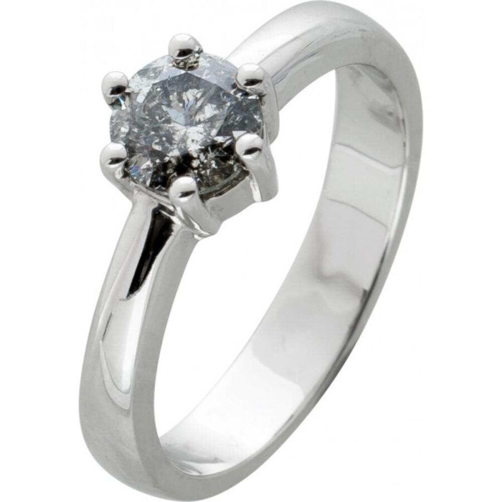 Brillantring Diamantring Solitär 0,86ct Weissgold 585 Brillant Gr.17,5mm, mit Görg Zertifikat