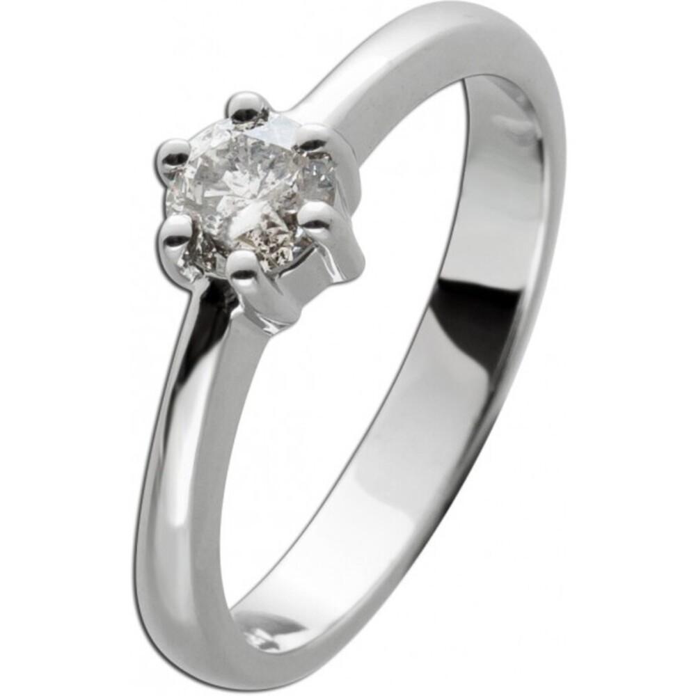 Brillantring Diamantring Solitärr 0,47ct Weissgold 585 Gr. 17,5mm, mit Görg Zertifikat