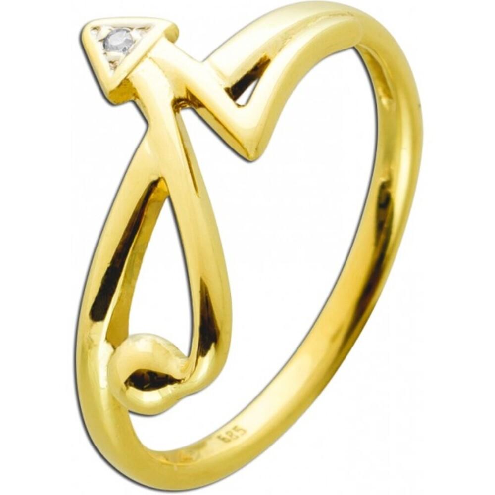 Ring Gelbgold 585 Diamant 8/8 0,005ct W/I1
