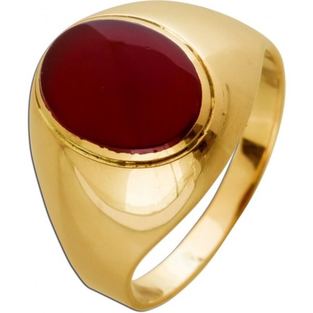Antiker Ring um 1900 Gelbgold 8 Karat 1 Carneol Edelstein Siegelring Goldring