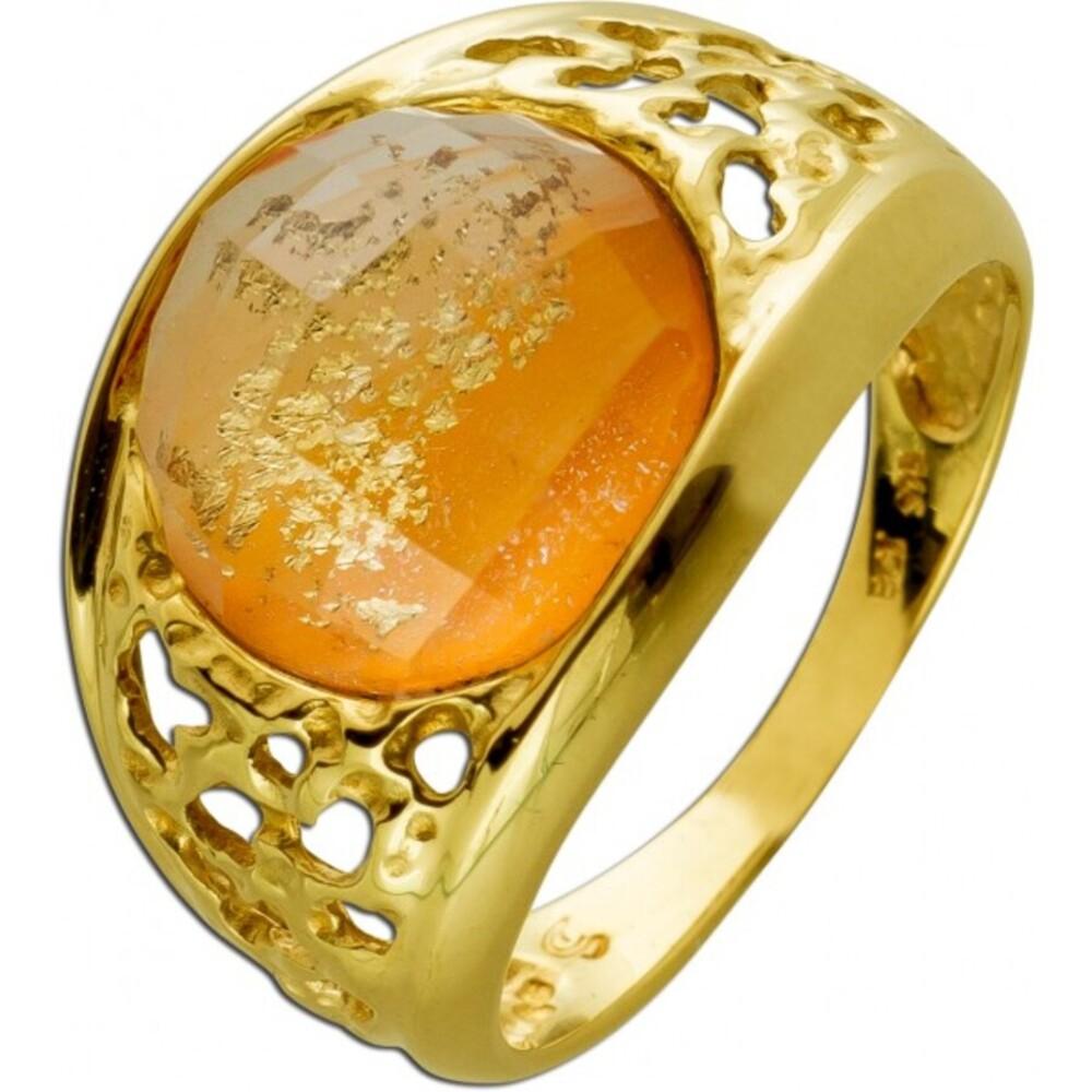 Ring Gelbgold 333 mit Citrin Edelstein