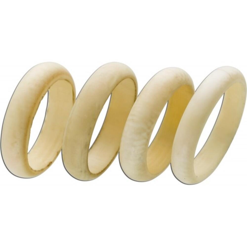 Antikes Elfenbein Ring Set 4 Ringe um 1940 gefertigt  Perfekter Sammler Zustand 16,2mm