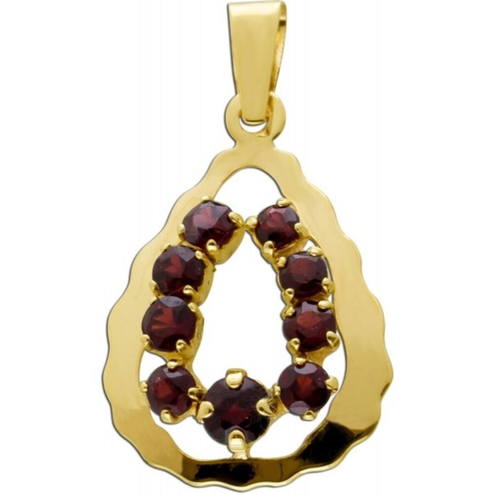 Antiker Granat Anhänger um 1930 Gelbgold 333 8 Karat 9 Böhmische Granat Edelsteine Vintage