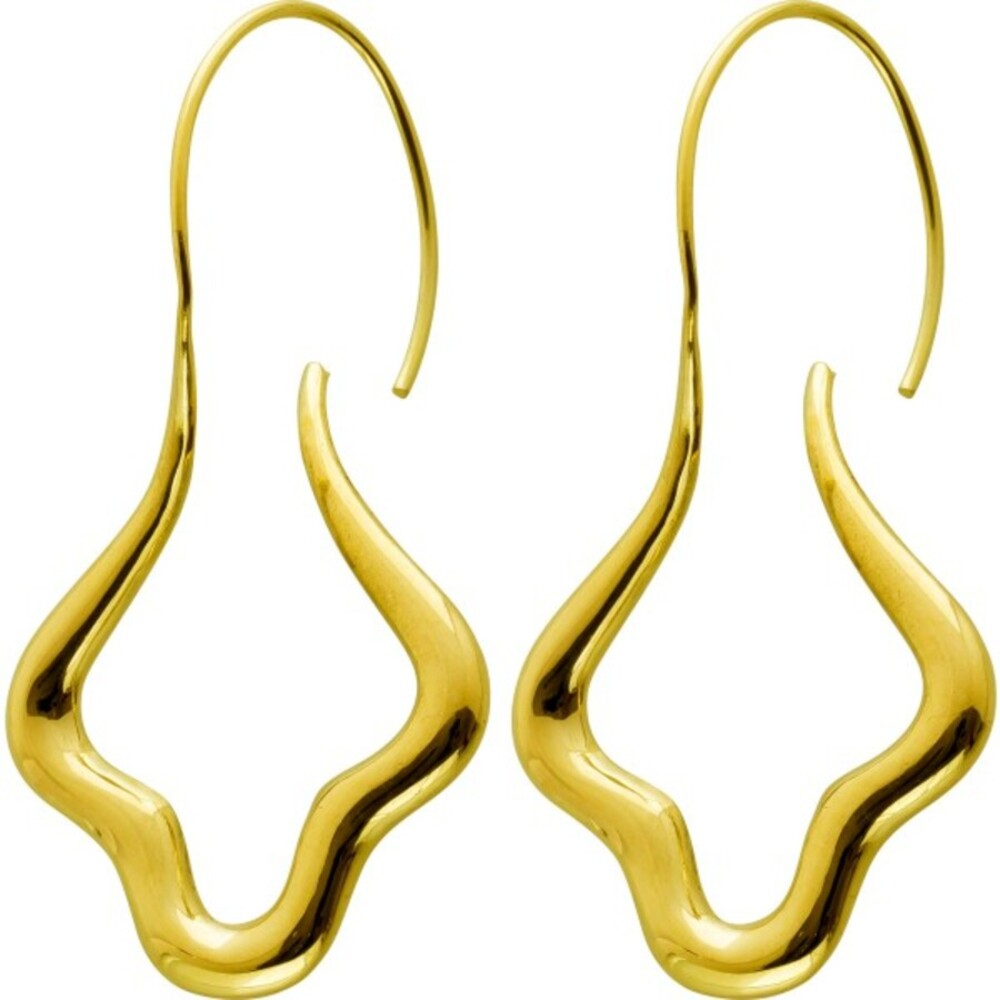 Designer Ohranhänger Gelbgold 14 Karat 585 Italienische Einzelanfertigung