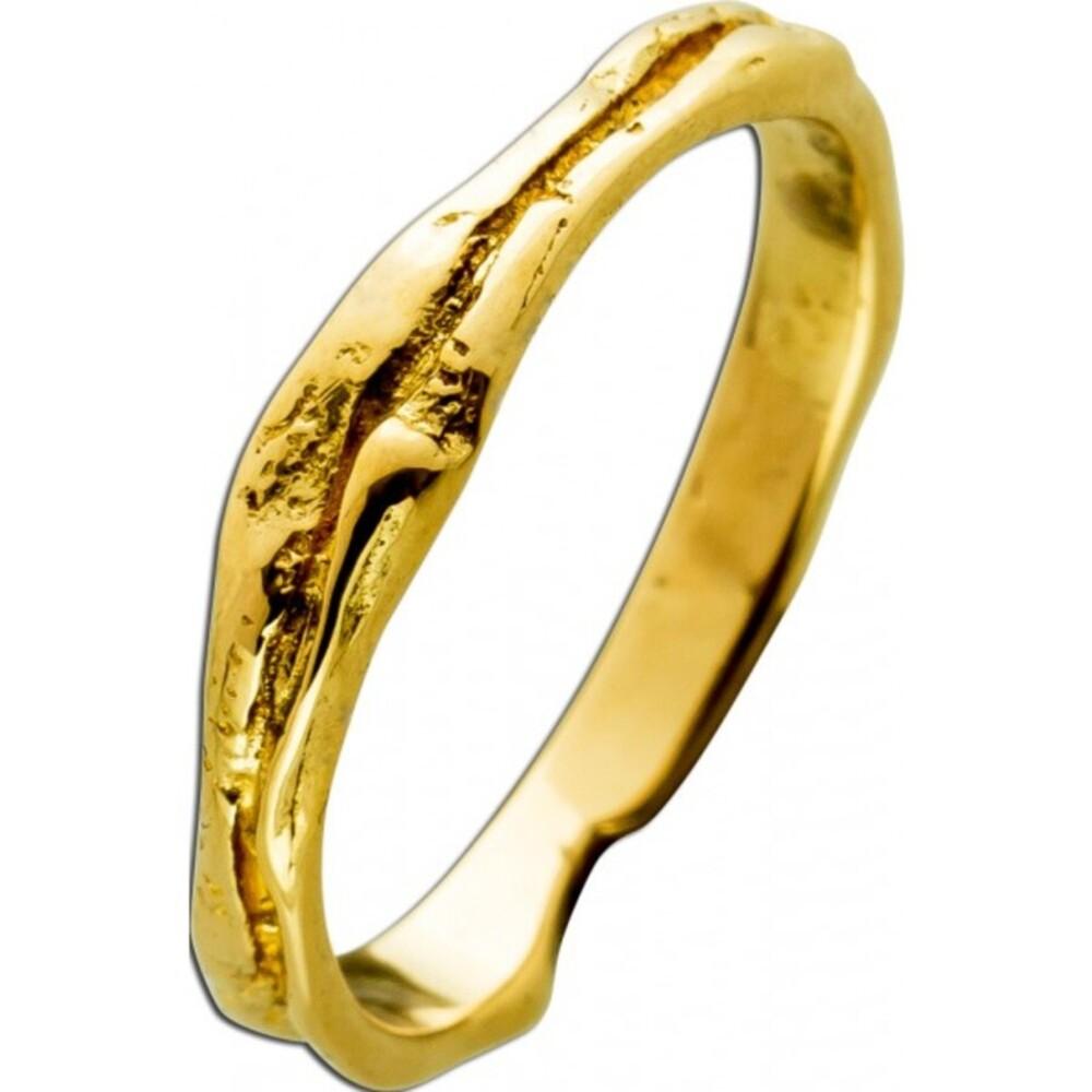 Ring Gelbgold 18 Karat 750 Lapponia Look Ice Look
