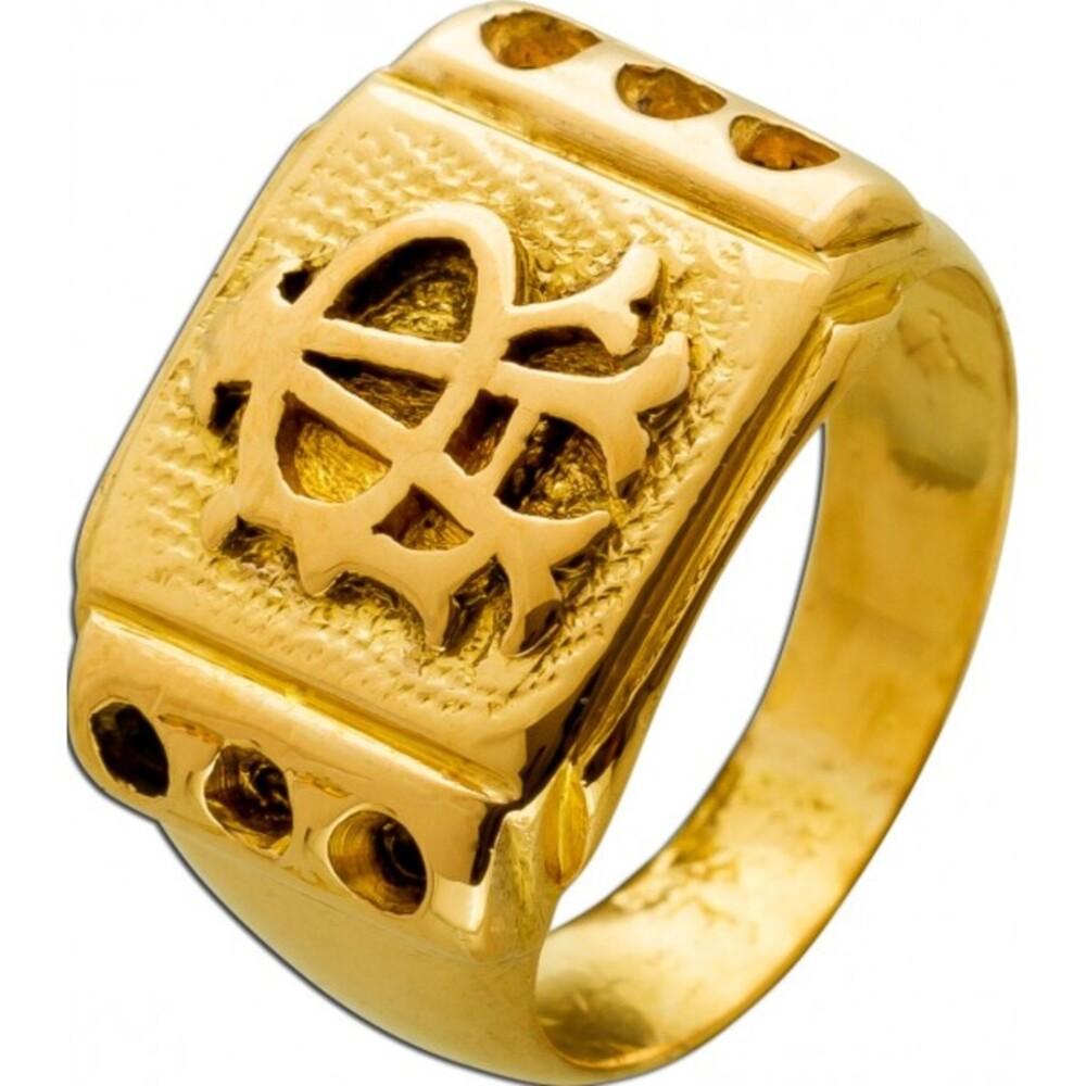 Antiker Herren Siegel Ring 1800 Vereinigtes Königreich England Gelbgold 18 Karat Absolute Rarität ! Top Zustand Gr.16,8mm änderbar