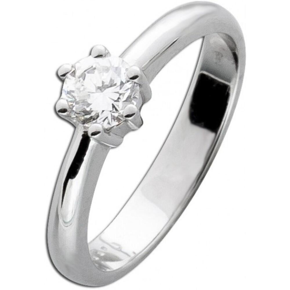 Solitärring Diamantring Weissgold 585 Brillant 0,45ct TW/IF Gr. 19mm Görg Zertifikat_2