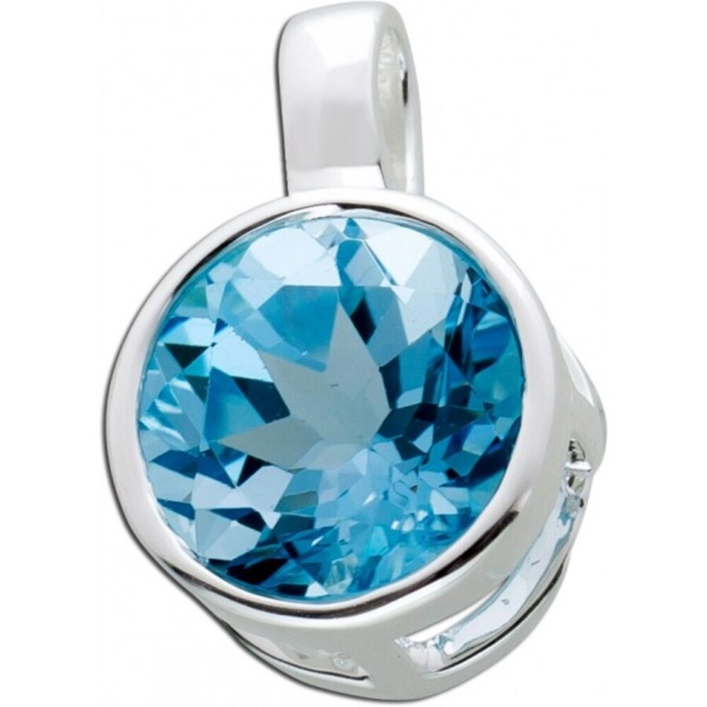 Blautopas Edelsteinanhänger Sterling Silber 925_01