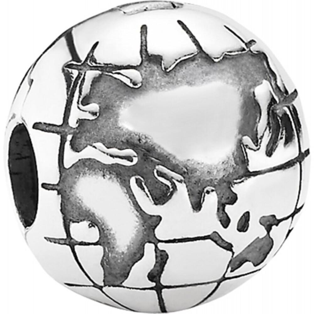 PANDORA Clip 791182 Weltkugel 925er Sterling Silber-247868100