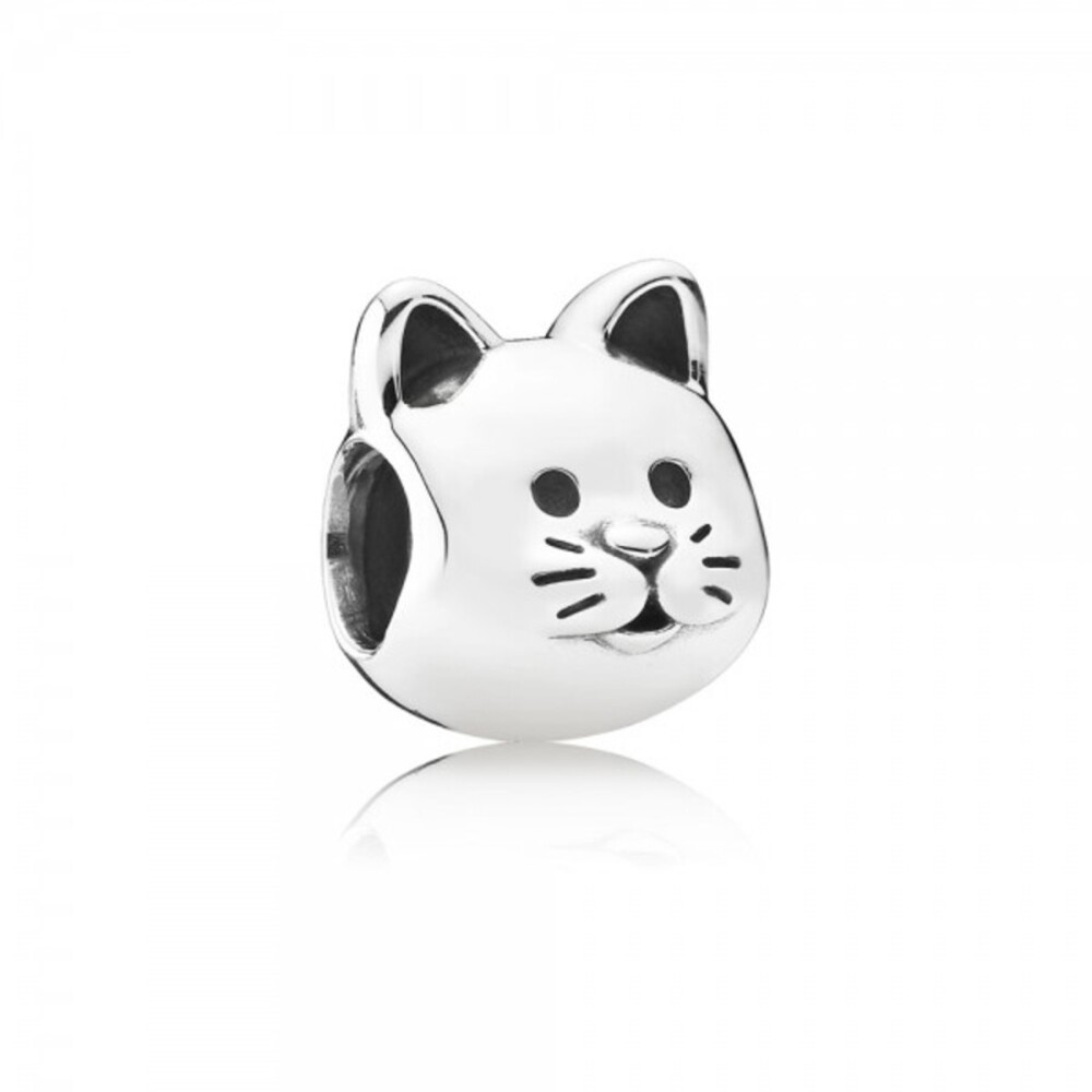 "PANDORA Charm 791706 ""Neugieriges Kätzchen"""