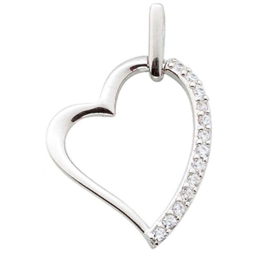 Herz Anhänger Sterling Silber 925 Zirkonia Damenschmuck_1