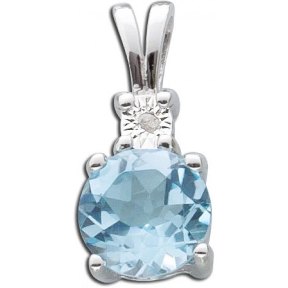 Diamantanhänger Blautopas Sterling Silber 925_01