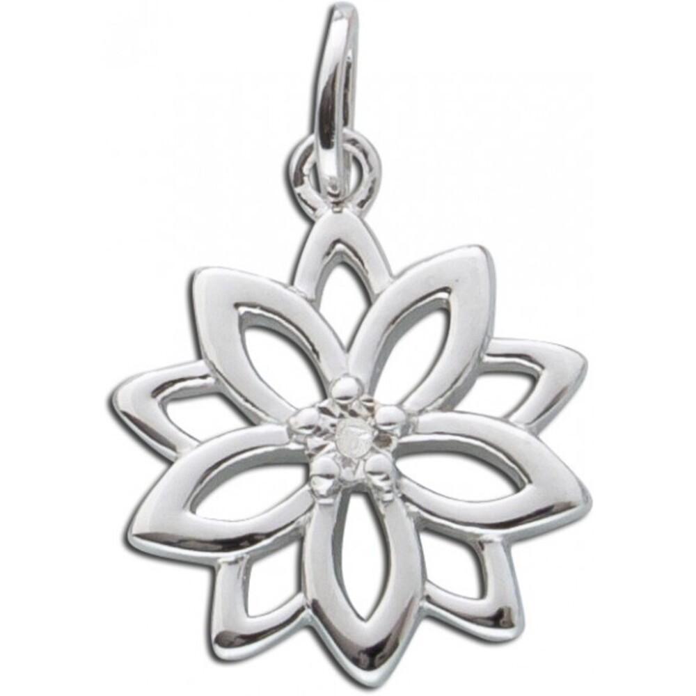 Anhänger Sterling Silber 925 Lebensblume Diamant 1