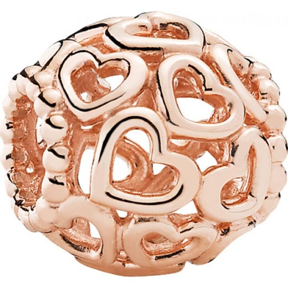 Pandora Charm Rose 780964 rosevergoldet Herzstrudel