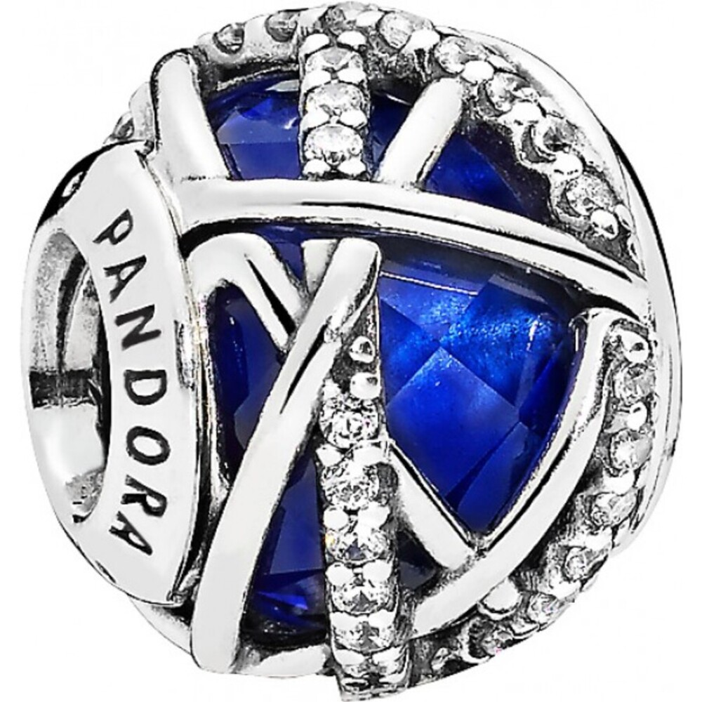 PANDORA Charms 796361NCB Royalblaue Galaxie Sterling Silber 925