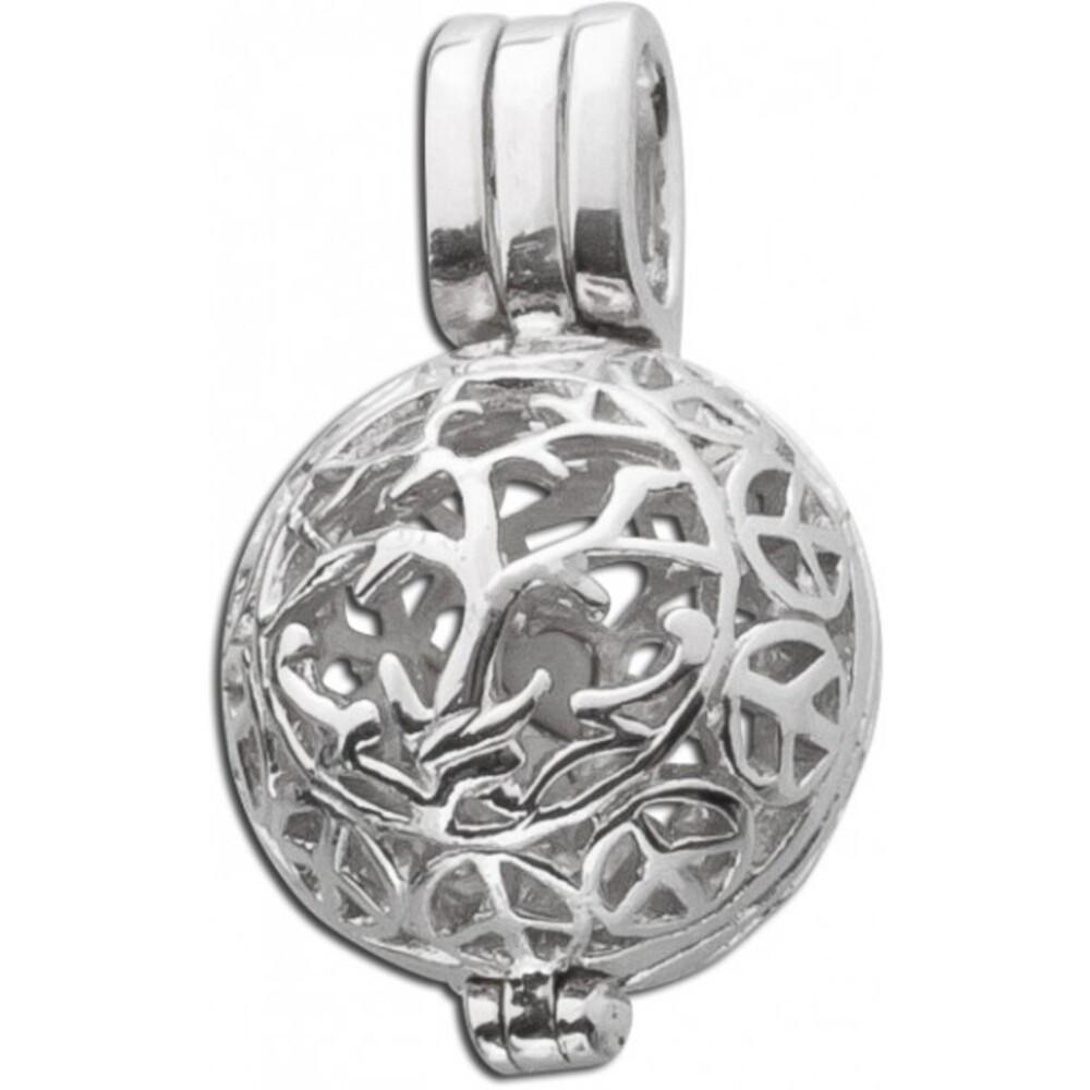 Kugel-Anhänger Sterling Silber 925 öffenbar/ befüllbar 1