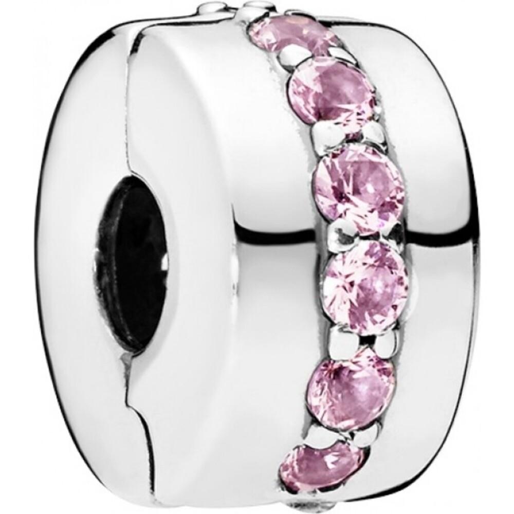 PANDORA Clip 791972PCZ Pink Shining Path Sterling Silber 925 pink Zirkonia