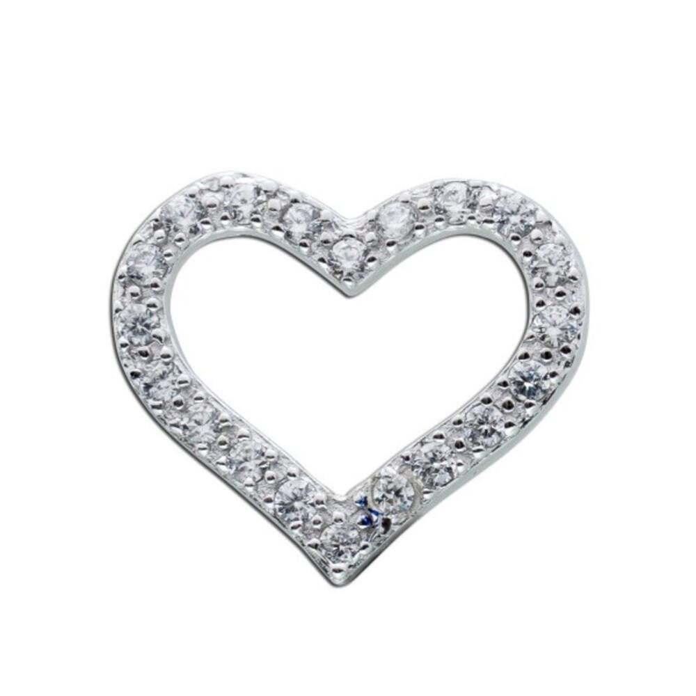 Herz Anhänger Silber Zirkonia Sterling Silber 925 Swinging heart Damenschmuck_1