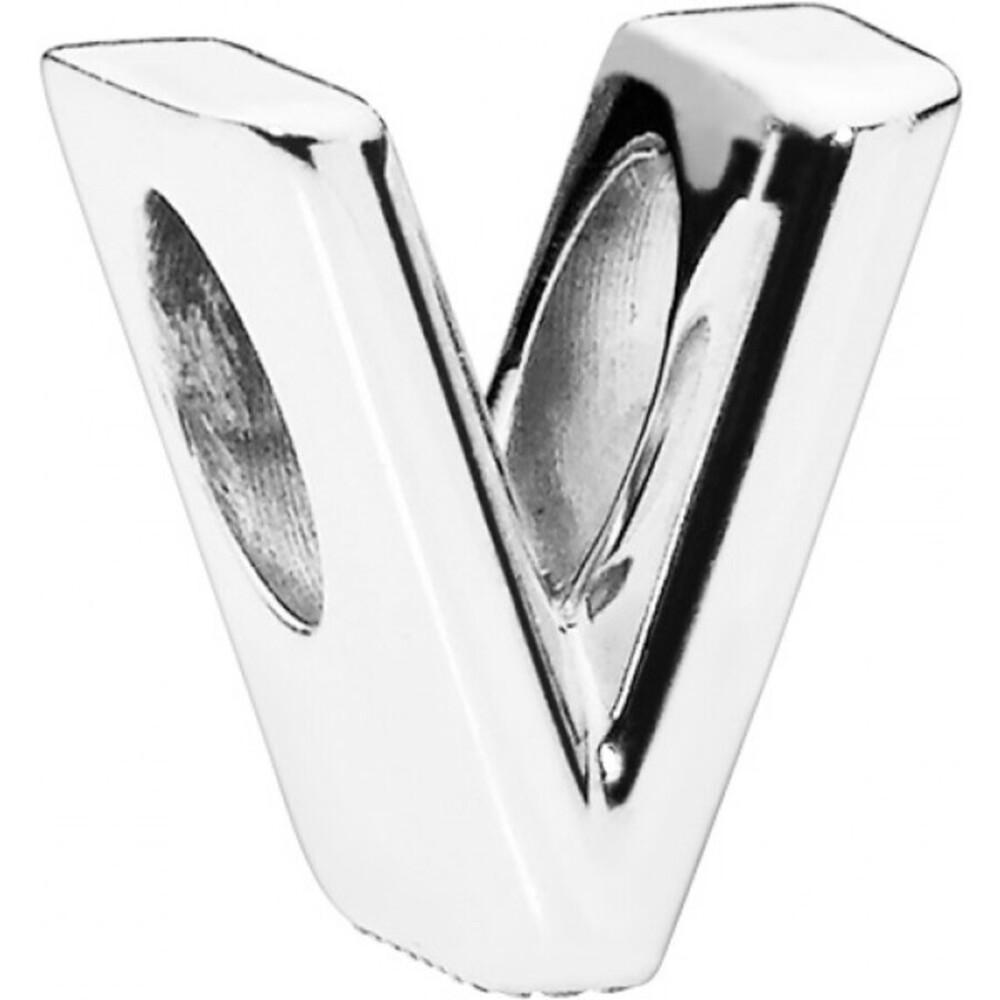 PANDORA Charms 797476 Alphabet Buchstabe V Silber 925