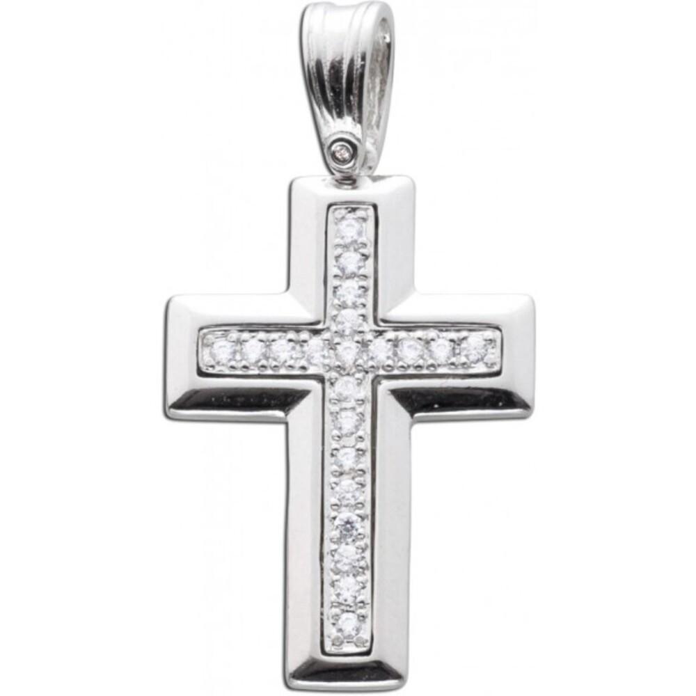 Kreuz Anhänger Silber 925 Kreuzanhänger Zirkonia_03