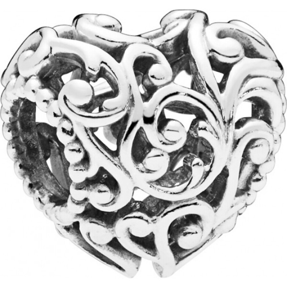 PANDORA Charm 797672 Regal Heart Silber 925 Herz Element
